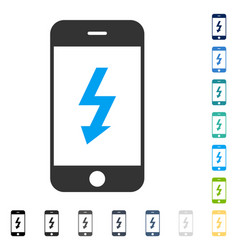 electric smartphone icon vector image