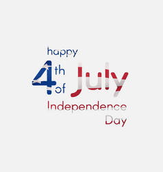 independence day of the usa on july 4 inscription vector image