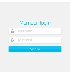 login interface vector image