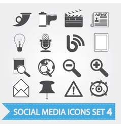 Social media icons set 4 vector image