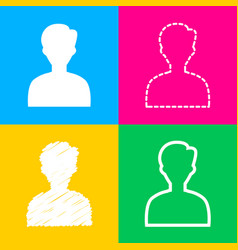 user avatar anonymous sign four vector image