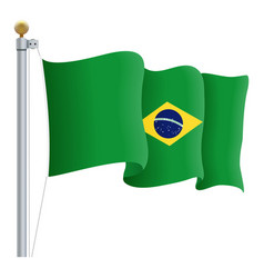 waving brasil flag isolated on a white background vector image