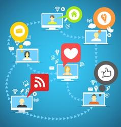 Global social network vector image