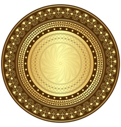 gold and brown frame vector image vector image
