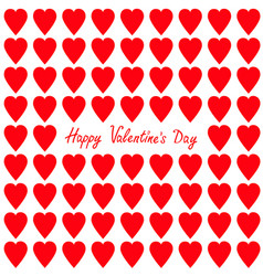 happy valentines day greeting card red heart set vector image vector image