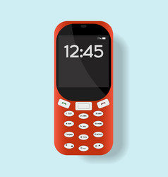 Mobile phone isolated on background vector