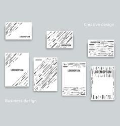 abstract geometric decor design template a4 flyer vector image vector image
