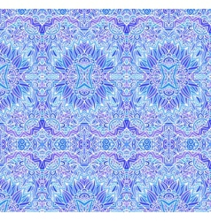 Blue ornate seamless pattern vector image