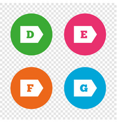 energy efficiency class icons vector image vector image