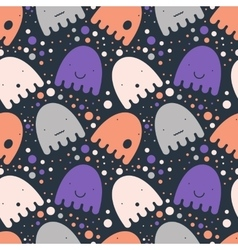 Pattern colorful Ghost vector image