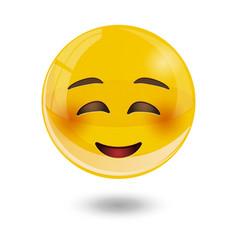 smiley emoticons emoji vector image vector image