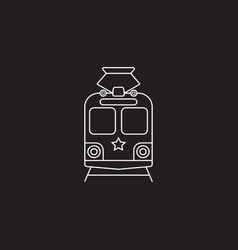 tram icon public transport symbol graphics vector image