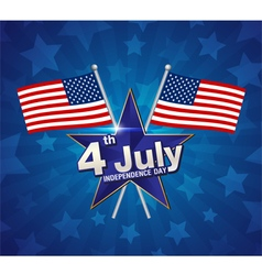 4 july Independence day vector image