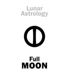 astrology full moon vector image
