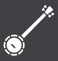 Banjo glyph icon music and instrument vector