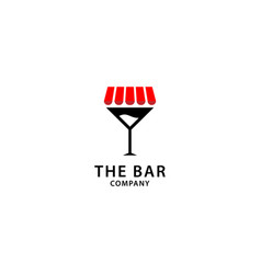 Bar logo design wine drink and store icon vector