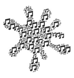 Blot collage of music icons vector