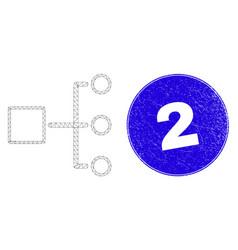 Blue distress 2 seal and web carcass hierarchy vector