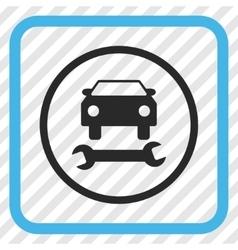 Car repair icon in a frame vector