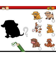 Children shadows task with dogs vector