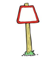 comic cartoon road sign vector image