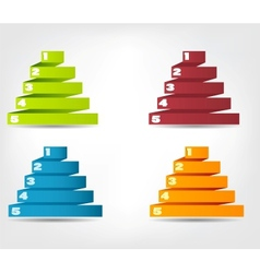 Concept of colorful origami for different business vector image