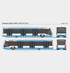 Contrac cobus 2700 airport passenger vector