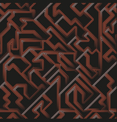 copper color geometric seamless pattern vector image