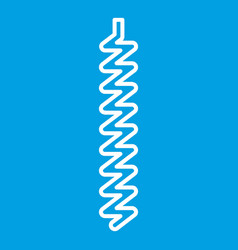 corkscrew icon outline style vector image