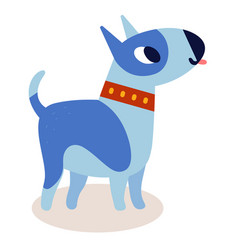 Cute cartoon blue bull terrier dog i vector