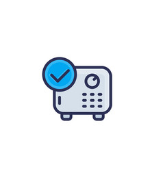 deposit icon strongbox with checkmark vector image