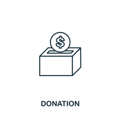 donation outline icon thin line element from vector image