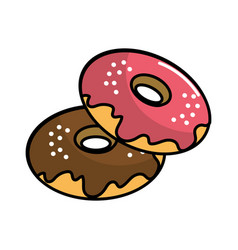Donuts of differents flavors icon vector