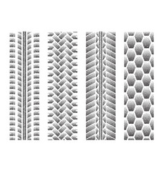dotted tire track set 2 vector image