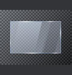 empty rectangle glass banner glossy frame vector image