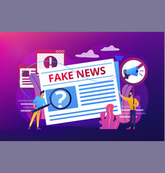 fake news concept vector image