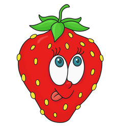 Fresh strawberry cartoon vector