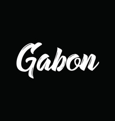 Gabon text design calligraphy typography vector
