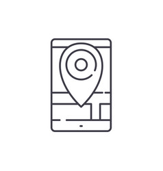 geolocation line icon concept geolocation vector image