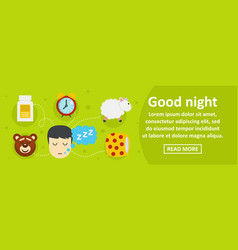 good night banner horizontal concept vector image