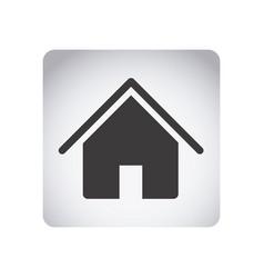 Gray emblem house icon vector