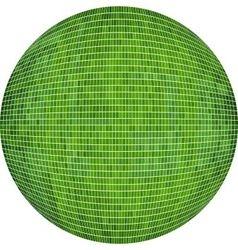 Green Ball in mosaic vector