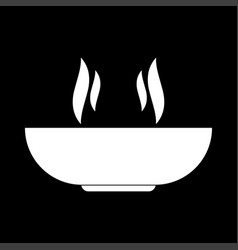 hot dish white color icon vector image