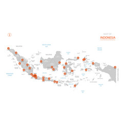 indonesia map with administrative divisions vector image