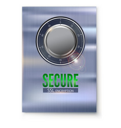 Information poster with secure ssl connection vector