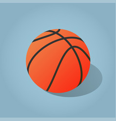 isometric basketball vector image