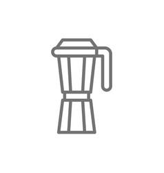 Italian coffee maker espresso machine line icon vector
