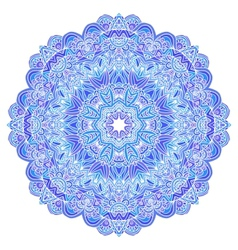 Lacy ornate blue napkin vector image