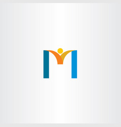 letter m businessman logo element vector image