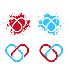 Link Connected Heart vector image